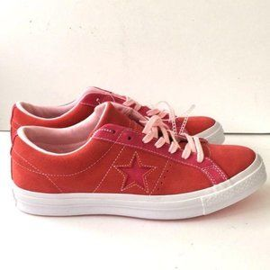 Converse red pink suede NWT sz 9 men/11 women star